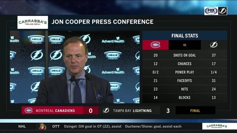 Jon Cooper on importance of depth, goalie Andrei Vasilevskiy