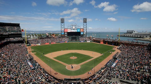 <p>               FILE - This June 15, 2016, file photo shows AT&T Park from an overhead view as the San Francisco Giants play the Milwaukee Brewers during a baseball game in San Francisco. The Oakland Raiders are in talks with the Giants about playing their home games next season at Oracle Park, formerly known as AT&T Park. A person with knowledge of the negotiations said Sunday night, Feb. 3, 2019, the two sides are in discussions, but no deal has been reached. The person spoke to The Associated Press on condition of anonymity because nothing has been finalized. (AP Photo/Marcio Jose Sanchez, File)             </p>