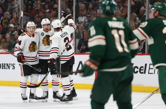 Gustafsson's second goal lifts Blackhawks past Wild in OT