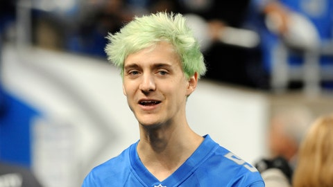 """<p>               File-This Sept. 10, 2018, file photo shows Tyler """"Ninja"""" Blevins before an NFL football game between the Detroit Lions and New York Jets in Detroit. For the first time since its meteoric rise, """"Fortnite"""" is no longer a no-doubt victory royale atop the video game industry. """"Apex Legends"""",  a battle royale from Electronic Arts, has stormed the market and smashed """"Fortnite"""" records for downloads and viewership since its release three weeks ago. Blevins and other streaming stars have powered that surge, as has the emergence of an 18-year-old """"Apex"""" superstar. Esports teams are already scrambling to sign talented players and invest long-term in the breakout title.  (AP Photo/Jose Juarez, File)             </p>"""