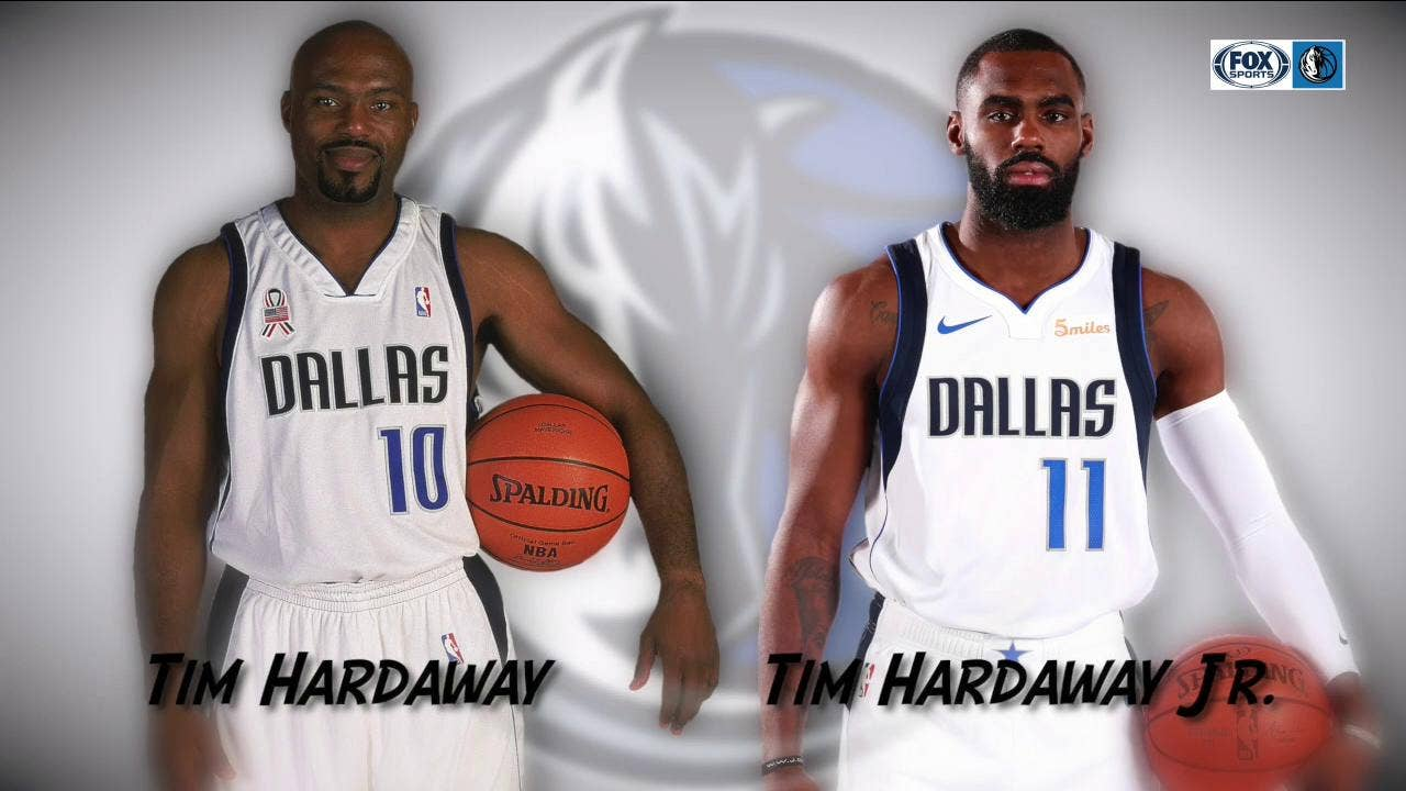 online retailer a8027 2d20f Mavs History: Tim Hardaway Jr. following in Father's Footsteps