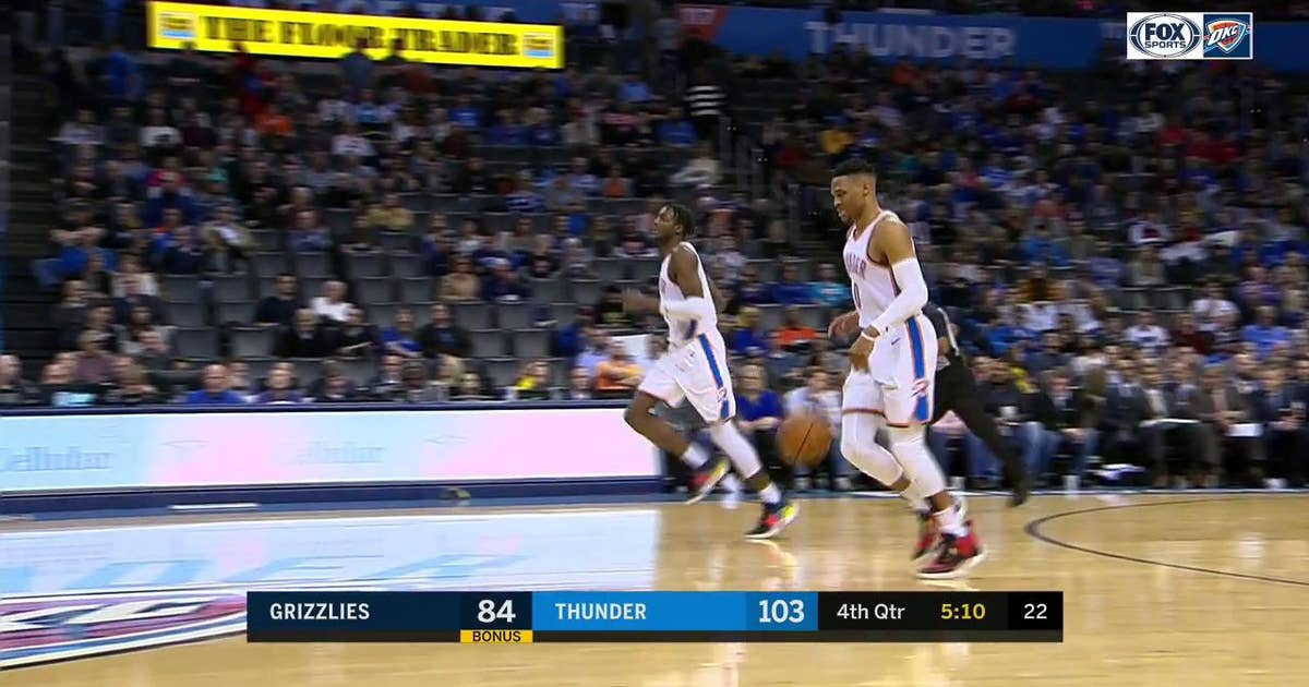 83f7dc749 HIGHLIGHTS  Terrance Ferguson Grabs the Ally-Oop from Russ for the Dunk