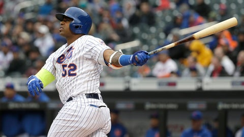 <p>               FILE - In this April 4, 2018, file photo, New York Mets' Yoenis Cespedes watches his two-run home run during the first inning of the baseball game against the Philadelphia Phillies at Citi Field in New York. Cespedes says he thinks he will be able to play at some point this season. Recovering from surgery on both heels, the Mets slugger told reporters through a translator at spring training Friday, Feb. 15, 2019, he is finally pain-free. (AP Photo/Seth Wenig, File)             </p>