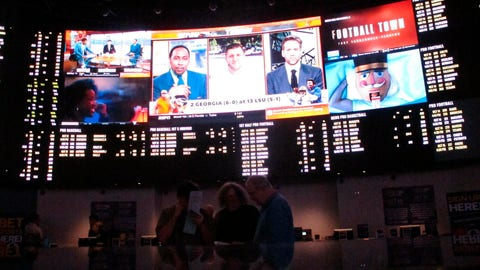 <p>               FILE -  In this Oct. 12, 2018, file photo, people sit inside a sports betting lounge at the Ocean Resort Casino in Atlantic City N.J. Now, for the first time in the United States, you can legally bet on one of pop culture's biggest nights. New Jersey is the first state in the U.S. to allow sportsbooks to accept wagers on the Oscars, taking after a common practice in Europe and giving American fans another option besides informal office pools. (AP Photo/Wayne Parry, File)             </p>