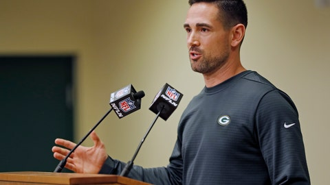 <p>               Green Bay Packers' head coach Matt LeFleur addresses the media during a press conference Monday, Feb. 18, 2019, in Green Bay, Wis. (AP Photo/Matt Ludtke)             </p>
