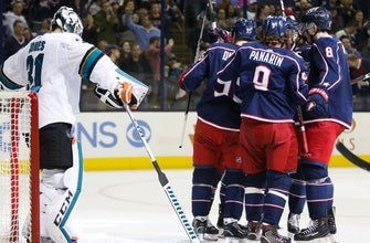 Bobrovsky gets another shutout, Blue Jackets beat Sharks 4-0