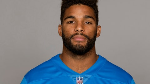 <p>               FILE - This June 4, 2018 file photo, shows Trevor Bates of the Detroit Lions. Bates was arraigned Tuesday, Feb. 5, 2019, from a psychiatric ward on charges he punched a New York City police officer on Jan. 26, after he was taken to a precinct house for failing to pay a taxi fare. Bates has been hospitalized since his arrest and was arraigned via a video hookup. (AP Photo/File)             </p>