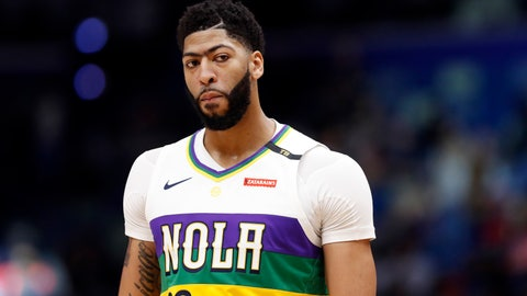 <p>               FILE - In this Feb. 12, 2019, file photo, New Orleans Pelicans forward Anthony Davis stands on the court during the first half of the team's NBA basketball game against the Orland Magic in New Orleans. Pelicans coach Alvin Gentry said Davis was slated to start at Indiana on Friday night. Later, interim general manager Danny Ferry said Davis, if healthy, would continue to play for the Pelicans--albeit in a scaled-back role. (AP Photo/Tyler Kaufman, File)             </p>
