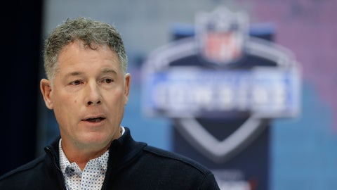 <p>               New York Giants head coach Pat Shurmur speaks during a press conference at the NFL football scouting combine, Wednesday, Feb. 27, 2019, in Indianapolis. (AP Photo/Darron Cummings)             </p>
