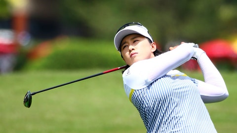 <p>               Two-time champion Amy Yang of South Korea watches the flight of her ball, during the LPGA Thailand, in Chonburi, Thailand, on Saturday Feb. 23, 2019.  Amy Yang and Australian player Minjee Lee share the lead on 15-under par-201 after three rounds at the LPGA Thailand on Saturday. (AP Photo/Lerpong Amsa-ngiam)             </p>