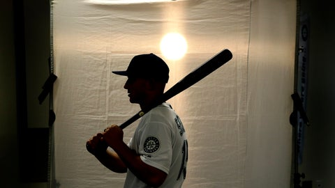 <p>               Seattle Mariners' Kyle Seager poses for a photographer during the team's photo day at spring training baseball practice Monday, Feb. 18, 2019, in Peoria, Ariz. (AP Photo/Charlie Riedel)             </p>