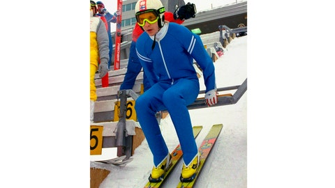 <p>               FILE - In this file photo dated Tuesday, Feb. 9, 1988, Matti Nykannen of Finland looks down the slope from the top of the 70mm ski jump during a practice session at the XV Winter Olympic Games Park in Calgary, Canada. Four-time Olympic gold medalist Matti Nykanen, widely considered one of the greatest ski jumpers ever, died Sunday Feb. 3, 2019, aged 55, according to The International Ski Federation (FIS). (AP Photo/Katsumi Kasahara, FILE)             </p>
