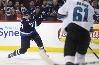 Pavelski scores in overtime, leads Sharks past Jets 3-2