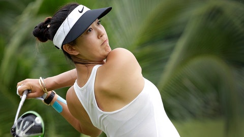 <p>               FILE - In this March 4, 2017, file photo, Michelle Wie of the United States tees off on the 2nd hole during the HSBC Women's Champions golf tournament at Sentosa Golf Club's Tanjong course in Singapore. The LPGA Tour completes its four-week swing through Australia and Asia with a healthy Wie defending her title at the 2019 HSBC Women's World Championship at the course. (AP Photo/Wong Maye-E, File)             </p>