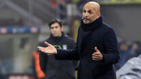 <p>               FILE - In this Thursday, Jan. 31, 2019 filer, Inter Milan coach Luciano Spalletti gives instructions during an Italian Cup quarterfinal soccer match between Inter Milan and Lazio at the San Siro stadium, in Milan, Italy. Inter is firmly in its mid-season slump and failure to win at Parma on Saturday would deepen the Nerazzurri crisis. The players left the field to deafening jeers from their own fans after Sunday's 1-0 defeat at home to relegation-threatened Bologna to pile more pressure on coach Luciano Spalletti, amid speculation the club is preparing to replace him with Antonio Conte. Inter CEO Giuseppe Marotta has denied Spalletti's job is at risk but the club's grip on a Champions League place is weakening. (AP Photo/Luca Bruno, File )             </p>