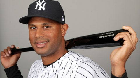 <p>               FILE - This is a 2019 file photo showing Aaron Hicks of the New York Yankees baseball team. A person familiar with the negotiations tells The Associated Press that outfielder Aaron Hicks and the New York Yankees have agreed to a $70 million, seven-year contract that adds $64 million in guaranteed money over six seasons. Hicks' agreement includes a club option for 2026 that could make it worth $81.5 million over seven seasons, the person said Monday, Feb. 25, 2019. The person spoke on condition of anonymity because the agreement had not yet been announced.  (AP Photo/Lynne Sladky, File)             </p>