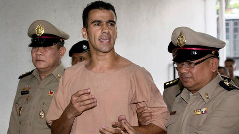 <p>               FILE -In this Monday, Feb. 4, 2019, file photo, detained Bahraini soccer player Hakeem al-Araibi arrives at the criminal court in Bangkok, Thailand. Australian Federal Police did not know Al-Araibi was a refugee who feared persecution in his homeland when the agency alerted Bahrain and Thailand that he was on a flight bound for Bangkok, a top police official said Monday. (AP Photo/Sakchai Lalit, File)             </p>