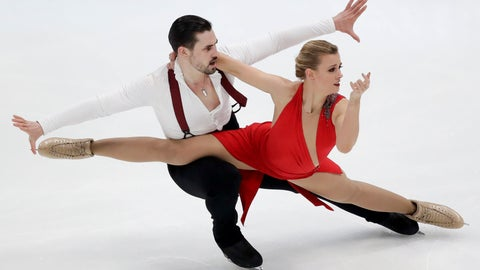 <p>               Madison Hubbell and Zachary Donohue, of the United States, perform during the ice dance rhythm dance competition at the Four Continents Figure Skating Championships on Friday, Feb. 8, 2019, in Anaheim, Calif. (AP Photo/Chris Carlson)             </p>