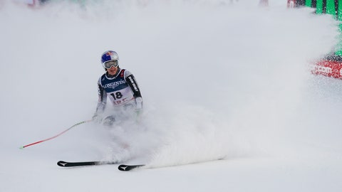 <p>               Czech Republic's Ester Ledecka checks her time at the end of the women's downhill training at the alpine ski World Championships, in Are, Sweden, Thursday, Feb. 7, 2019. (AP Photo/Giovanni Auletta)             </p>