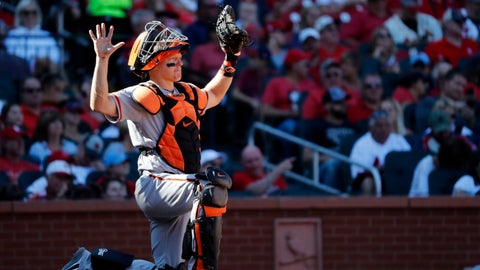 <p>               File-This Sept. 23, 2018, file photo shows San Francisco Giants catcher Nick Hundley taking up his position during the seventh inning of a baseball game against the St. Louis Cardinals  in St. Louis. The Oakland Athletics added depth at catcher on Monday, Feb. 11, 2019, agreeing to a minor league contract with Hundley. If added to the 40-man roster, the 35-year-old would get a one-year contract paying a $1.25 million salary while in the major leagues.  (AP Photo/Jeff Roberson, File)             </p>