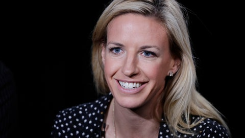 <p>               FILE - In this May 30, 2018, file photo, Aly Wagner talks during an interview in New York. JP Dellacamera and former U.S. midfielder Aly Wagner will be Fox's lead broadcast team for the Women's World Cup in France. The announcement comes 100 days before the tournament opens June 7 with a matchup of France and South Korea. Fox said Wednesday, Feb. 27, 2019, that 22 matches will be broadcast on the main Fox network, 27 on FS1 and three on FS2. (AP Photo/Mark Lennihan, File)             </p>