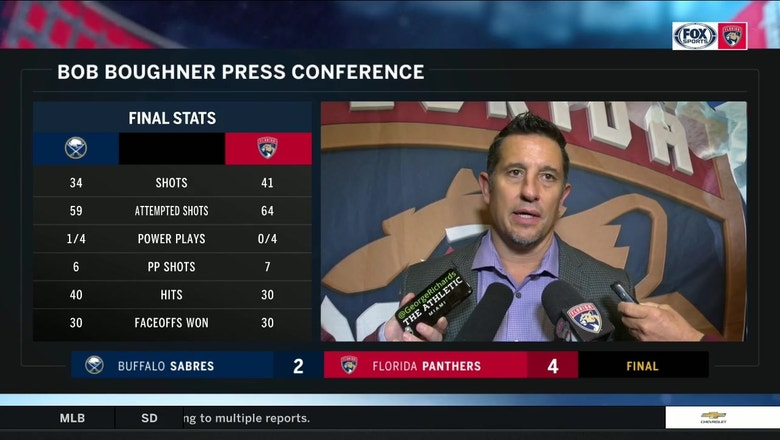 Bob Boughner talks how Panthers overcame a slow start to top Buffalo, playoff push