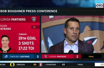 Bob Boughner critical of Panthers' goaltending after loss