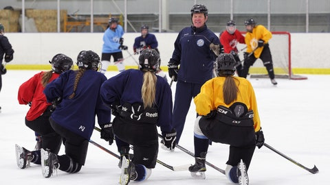 <p>               In this Feb. 11, 2019, photo provided by Bill Kerig, Great Coach Founder and CEO Bill Kerig works as a volunteer hockey coach for the Salt Lake City Lady Lightning U19 hockey team, in Salt Lake City. An advocacy group has published a first-of-its-kind comprehensive list of coaches banned from Olympic sports, creating a database of nearly 1,000 people no longer allowed to work in the U.S. Olympic system because of sex-abuse allegations, doping positives and other criminal activities involving minors. The website, designed by former pro moguls skier Bill Kerig, was originally started to help families find certified coaches who are best qualified to work with their kids.  (Blake Palmer/William Kerig via AP)             </p>