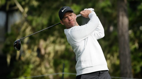 <p>               Paul Casey, of England, follows his drive from the 18th tee of the Spyglass Hill Golf Course during the third round of the AT&T Pebble Beach Pro-Am golf tournament, Saturday, Feb. 9, 2019, in Pebble Beach, Calif. (AP Photo/Eric Risberg)             </p>