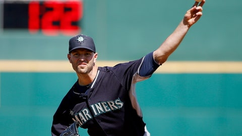<p>               FILE - In this March 8, 2015, file photo, Seattle Mariners' J.A. Happ throws a pitch between innings as pitch clock counts down in the background during a spring training baseball game against the Cincinnati Reds in Goodyear, Ariz. Major League Baseball and its players are discussing bold changes to spark the sport that include a three-batter minimum before a pitching change except at the start of an inning, a single trade deadline set before the All-Star break and expanding rosters. (AP Photo/Ross D. Franklin, File)             </p>