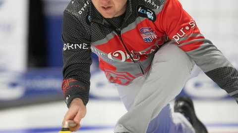 <p>               FILE - In this Feb. 9, 2019, file photo, John Shuster delivers a stone during the 2019 USA Curling Nationals at Wings Event Center in Kalamazoo, Mich. Nearly a year has passed since he won gold in South Korea, and Shuster can still smile about his transformation from obscure curler to Olympic sensation. The past 12 months have certainly been eventful for him and his teammates. (Emil Lippe/Kalamazoo Gazette via AP, File)             </p>