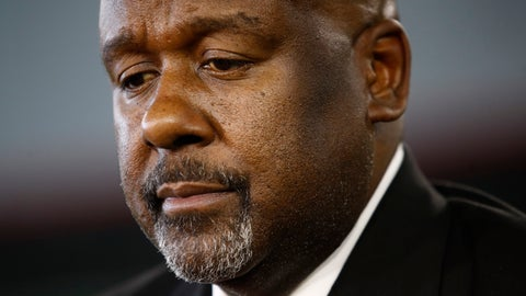 <p>               FILE - In this Dec. 6, 2018, file photo, Maryland's new head football coach Mike Locksley listens to a reporter's question after an NCAA college football news conference, in College Park, Md. Of all the things on the checklist of Maryland football coach Michael Locksley, none are more pressing than forming a bond with players who in 2018 dealt with the death of a teammate and the subsequent whirlwind of activity that transpired on and off the field. (AP Photo/Patrick Semansky, File)             </p>