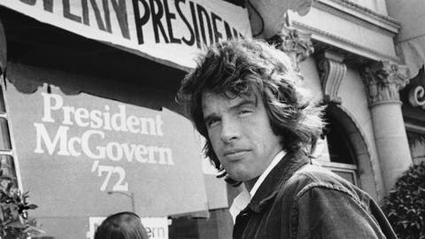 "<p>               FILE - In this May 29, 1972, file photo, actor Warren Beatty stands outside the headquarters for Democratic presidential candidate U.S. Sen. George McGovern in Beverly Hills, Calif. Years before Jared Goff or any of today's Los Angeles Rams were born, Beatty had been carried off on his teammates' shoulders to celebrate a Rams title that only Hollywood could dream up. He played quarterback Joe Pendleton in the 1978 Academy Award nominated movie ""Heaven Can Wait."" At the end, he leads LA to an otherworldly Super Bowl victory over the Steelers. (AP Photo, File)             </p>"