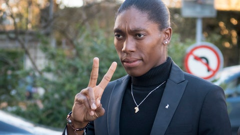 <p>               South Africa's runner Caster Semenya, current 800-meter Olympic gold medalist and world champion, arrives for the first day of her hearing at the international Court of Arbitration for Sport, CAS, in Lausanne, Switzerland, Monday, Feb. 18, 2019. Semenya has filed an appeal in the CAS against the International Association of Athletics Federations (IAAF) ruling, forcing female runners to medicate to reduce their testosterone levels for six months before racing internationally. (Laurent Gillieron/Keystone via AP)             </p>