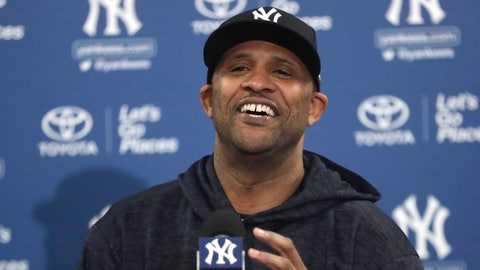 <p>               New York Yankees starting pitcher CC Sabathia makes a statement at a news conference at the Yankees spring training baseball facility, Saturday, Feb. 16, 2019, in Tampa, Fla. Sabathia announced he will retire after the 2019 season. (AP Photo/Lynne Sladky)             </p>