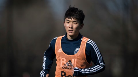<p>               Vancouver Whitecaps midfielder Inbeom Hwang, center, of South Korea, runs during MLS soccer practice  in Vancouver, British Columbia, Tuesday, Feb. 26, 2019. The team is scheduled to open the season on Saturday, March 2, when they Minnesota United. (Darryl Dyck/The Canadian Press via AP)             </p>
