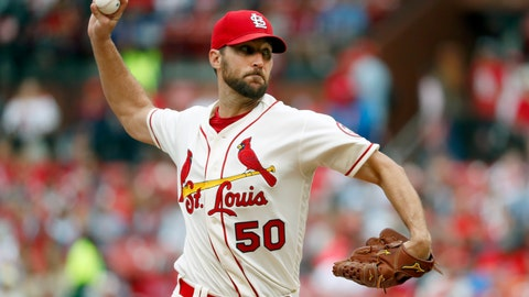 <p>               FILE - In this Sept. 22, 2018, file photo, St. Louis Cardinals starting pitcher Adam Wainwright throws during the first inning of a baseball game against the San Francisco Giants in St. Louis. Veteran St. Louis pitcher Wainwright remains confident in his ability to still be effective on the mound for the Cardinals. (AP Photo/Jeff Roberson, File)             </p>