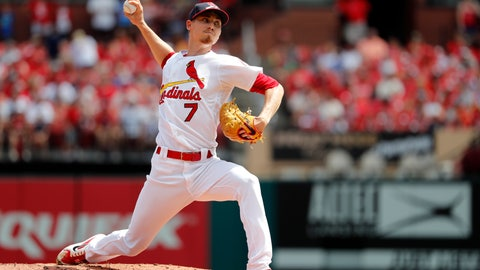<p>               File-This Sept. 2, 2018, file photo shows St. Louis Cardinals starting pitcher Luke Weaver throwing during the first inning of a baseball game in St. Louis. Carson Kelly and Weaver will always been known as the other players in the Paul Goldschmidt trade. No matter what they do for the rest of their careers, good or bad, they will be linked to the Arizona Diamondbacks' fan-favorite first baseman. (AP Photo/Jeff Roberson, File)             </p>