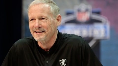 <p>               Oakland Raiders general manager Mike Mayock speaks during a press conference at the NFL football scouting combine in Indianapolis, Wednesday, Feb. 27, 2019. (AP Photo/Michael Conroy)             </p>