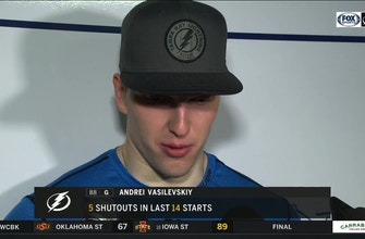 Andrei Vasilevskiy on his Lightning record: 'I'm pretty proud to be number 1'