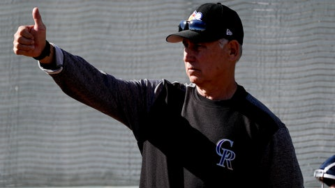 <p>               Colorado Rockies manager Bud Black gestures during bullpen practice at their spring baseball training facility in Scottsdale, Ariz., Saturday, Feb. 16, 2019. (AP Photo/Chris Carlson)             </p>
