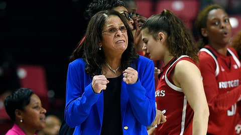 <p>               FILE - In this Dec. 31, 2018, file photo, Rutgers head coach C. Vivian Stringer reacts in the final minutes of an NCAA college basketball game against Maryland in Baltimore. Rutgers won, 73-65. Coach Stringer, who earlier this season posted her 1,000th victory, is taking off the rest of the regular season on the advice of doctors. The announcement Sunday, Feb. 24, 2019, by the Big Ten Conference school came three days after the 70-year-old Hall of Famer missed a game at Michigan. (AP Photo/Gail Burton, File)             </p>