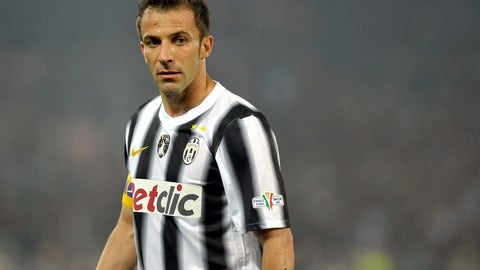 <p>               In this , Sunday, May 20, 2012 file photo, Juventus' Alessandro Del Piero reacts during the Italian Cup soccer final between Juventus and Napoli at the Olympic Stadium in Rome. Former Juventus and Italy standout Alessandro Del Piero has announced that he owns a small soccer club based in Los Angeles. The 44-year-old Del Piero says on his website. (AP Photo/Massimo Pinca, File)             </p>