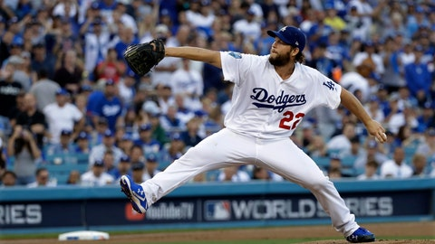 <p>               FILE - In this Oct. 28, 2018, file photo, Los Angeles Dodgers pitcher Clayton Kershaw winds up during the first inning in Game 5 of the World Series baseball game against the Boston Red Sox, in Los Angeles. Kershaw, one of the game's elite pitchers, anchors a deep rotation that is key to the Dodgers' continued success. (AP Photo/David J. Phillip, File)             </p>