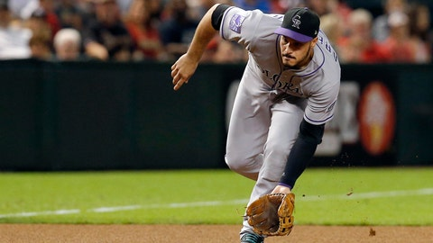 <p>               File-This Sept. 21, 2018, file photo shows Colorado Rockies third baseman Nolan Arenado in the first inning during a baseball game against the Arizona Diamondbacks in Phoenix. Arenado likes where he's at and the direction the Colorado Rockies are headed. So he's staying put. For possibly a long, long time. And for a chance to finish what this team has been brewing. The All-Star third baseman agreed to a $260 million, eight-year contract on Tuesday, Feb. 26, 2019, a person familiar with the negotiations told The Associated Press. The person spoke on condition of anonymity because the deal has not been finalized. (AP Photo/Rick Scuteri, File)             </p>