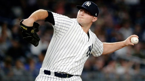 <p>               FILE - In this July 26, 2018, file photo, New York Yankees' Zach Britton delivers a pitch during the eighth inning of a baseball game against the Kansas City Royals, in New York. Zack Britton will be a different pitcher for the New York Yankees this year _ at least in name. Known throughout his baseball career as Zach, the 31-year-old reliever said Thursday, Feb. 7, 2019, going forward his name should be spelled Zack.(AP Photo/Frank Franklin II, File)             </p>