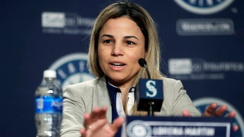 "<p>               FILE - In this Jan. 25, 2018, file photo, Lorena Martin, Seattle Mariners' director of high performance, speaks during the Mariners annual media briefing before the start of spring training baseball, in Seattle. Major League Baseball's independent investigation found no credible evidence to support claims of disparaging comments and discriminatory treatment by members of the Seattle Mariners front office. MLB said in a statement Wednesday, Feb. 6, 2019, that the investigation found the Mariners did not violate baseball's ""workplace code of conduct, or applicable anti-discrimination law,"" in the treatment of Lorena Martin or in her termination by the club. (AP Photo/Ted S. Warren, File)             </p>"
