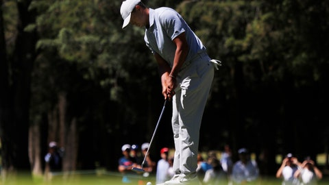 <p>               Tiger Woods putts on the 1st green during the first round of the the WGC-Mexico Championship at the Chapultepec Golf Club in Mexico City, Thursday, Feb. 21, 2019. (AP Photo/Marco Ugarte)             </p>