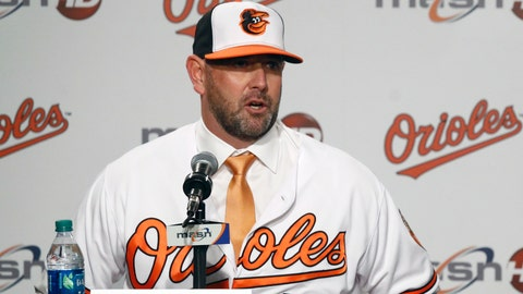 <p>               FILE - In this Dec. 17, 2018, file photo, new Baltimore Orioles manager Brandon Hyde speaks at an introductory news conference in Baltimore. There is a manager in the dugout other than Buck Showalter for the first time in nine years, and a new general manager replacing Dan Duquette, who spent seven years with the Orioles. Mike Elias, who was hired in November as Baltimore's new GM, hired Brandon Hyde a month later to succeed Showalter _ and the difference was obvious Tuesday, Feb. 12, 2019. There are few recognizable names, and only a handful of roster spots are accounted for. (AP Photo/Patrick Semansky, File)             </p>