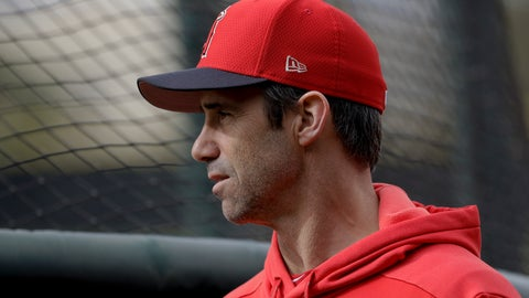 <p>               Los Angeles Angels manager Brad Ausmus watches batting practice at their spring baseball training facility in Tempe, Ariz., Wednesday, Feb. 13, 2019. (AP Photo/Chris Carlson)             </p>